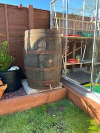 Whiskey barrel Water butt