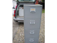 Representative Example of Our Used Grey 4-Drawer Filing Cabinets