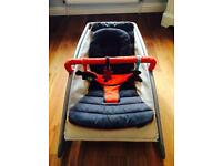 Mamas and papas orange and grey reversible covers baby rocker / bouncer chair