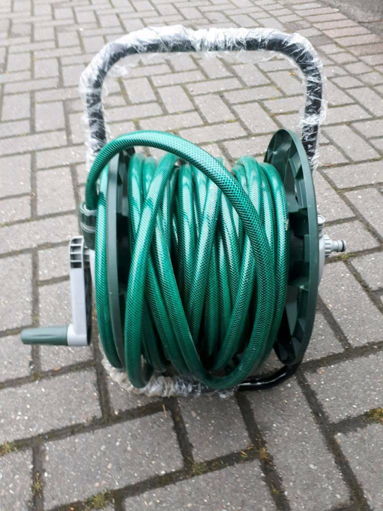 Hose pipe and reel | in Dronfield, Derbyshire | Gumtree