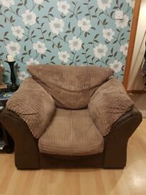 Comfy suede fabric armchairs x2