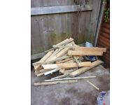 Free Wood for burning, came from porch roof and floor but does have some screws and nails.