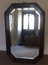 Antique Oak Surround Mirror