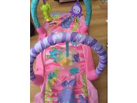 Baby girl play mat tunnell 2 in 1