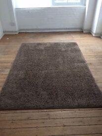 Brown wool rug from Heals 240cm x 170cm