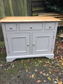 Brand New Small Storage Sideboard Grey Painted Kitchen/Diner
