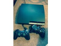 PLAYSTATION 3, 160GB WITH 2 DUALSHOCK CONTROLLERS & C.O.D AND OTHER GAMES