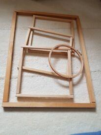 5 various sizes tapestry frames