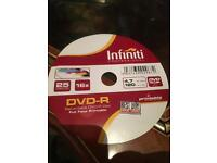 120 blank dvds with printable disc