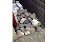 Selection of Stones and Large Pebbles / Cobbles from old pond