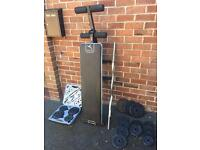 Weight Training Bench, Dumbbells Set & Weight Plates
