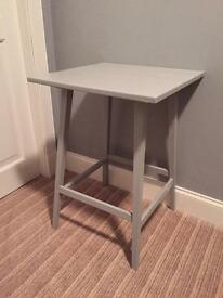 Annie Sloan Paris grey shabby chic side hall lamp telephone table