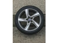 Volvo v40 r design alloy wheel with new tyre