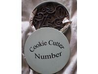 """number"" cookie cutters"
