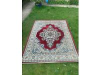 Large old red rug