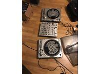 Turntables and broken mixer
