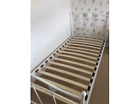 Next white metal single bed frame