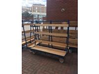 Glass or board trolley London storage