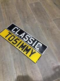 PRESSED METAL PLATES/NUMBER PLATES/CLASSIC PLATES