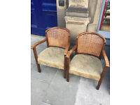 Vintage Cane Back Tub Chairs , two available . £75 each or the pair for £120 Free local delivery.