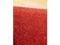 Red used carpet, good condition 3 x 3.5m