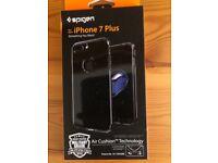 NEW Spigen iPhone 7 Plus Case Hybrid Armor 5.5 Cover Black