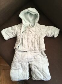 BABY SNOW SUITS 3 mths and 6 mths VGC
