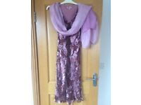 Monsoon dress size 10 and matching scarf.