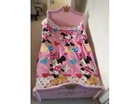 Lovely princess pink toddler bed with mattress