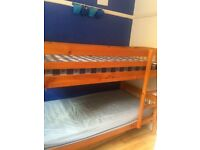 Bunk beds with mattressses