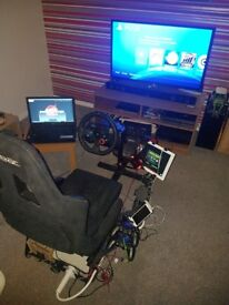 Logitech G29 Steering Wheel and Playseat Setup