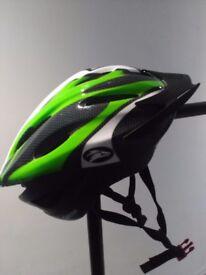 Brand-new green bicycle helmet
