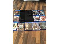 PS4 system with multiple games and controller