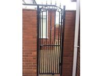 Garden metal steel gate