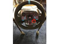Logitech G29 Steering Wheel and Driving force SHIFTER / Pedals - PS4 / PC