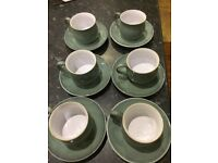 Denby coffee cups and saucers