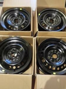 BRAND NEW  FACTORY OEM  FORD ESCAPE ( 2013 - 2018 )  16 INCH STEEL RIM SET OF FOUR.NEVER MOUNTED