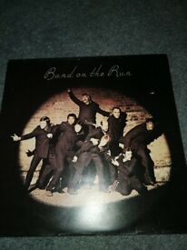 Paul McCartney and Wings Band on the Run vinyl lp