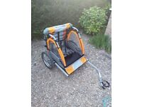 Halfords bicycle double child buggy, excellent condition only used a couple of times
