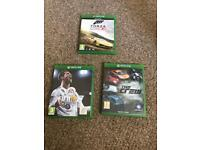 Fifa 18 , The Crew and Forza Horizon 2 all Xbox one