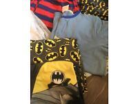 9 pairs boys pyjamas age 13-14