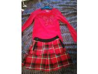 Girls skirt and sequin top Age 12