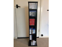 Storage Unit Cabinet Bookshelf Bookcase CD DVD. Furniture Tower. Shelf Shelves. Wood
