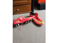 NIKE MERCURIAL FOOTBALL BOOTS UK SIZE:10
