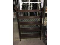 Arts and crafts pegged bookcase. Solid oak