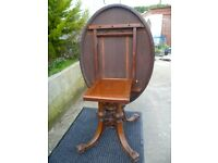 antique tipping table