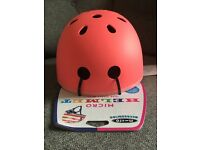Coral/pink limited edition micro scooter helmet