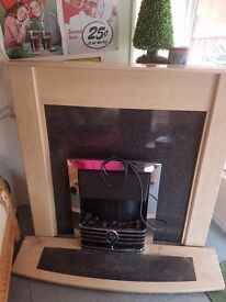 Electric fireplace suite good condition and working order