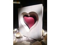 Valentines day celtic heart. Beutiful solid wood Celtic heart. Velentines, mothers day, birtdays