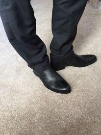 Men's leather boots shoes. ETOR. SALE. Last pair. Size 9 (43)